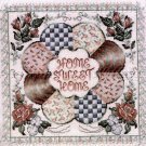 RARE PATCHWORK QUILT CIRCLE & ROSES EVENWEAVE HOME SWEET HOME CROSS STITCH KIT