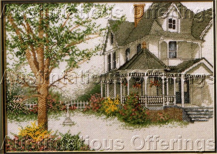 BURTON DYE ART REPRODUCTION VICTORIAN HOME CROSS STITCH KIT SUMMER GARDENS