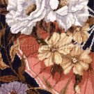 RARE GERI GEREMIA WATERCOLOR REPRO FLORAL NEEDLEPOINT KIT ELEGANT FAN PEONIES