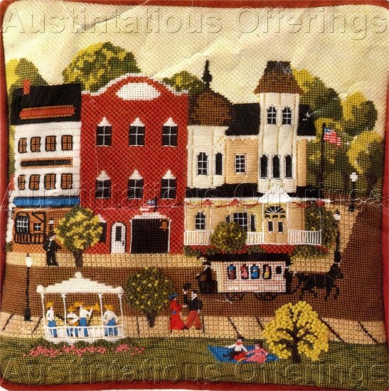RARE KAATZ FOLK ART HOLIDAYSTREET NEEDLEPOINT KIT HOUSE