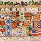 ROSSI WARM PASTELS AMERICANA CROSS STITCH SAMPLER KIT SIMPLE LIFE