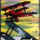 RARE REINARDY WORLD WAR I BIPLANES LONGSTITCH NEEDLEPOINT KIT EDDIE RICKENBACKER