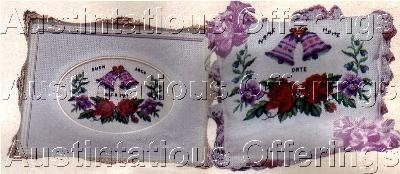 JEAN MCINTOSH FLORAL CROSS STITCH KIT ANNIVERSARY SAMPLER