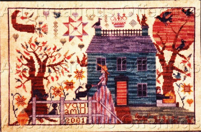 RARE BECKLIN  EXAMPLARS FROM THE HEART CROSS STITCH SAMPLER KIT THE BLESSING SIGNED & NUMBERED