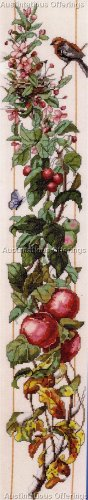 NANCY ROSSI APPLE TREE BLOSSOMS FOUR SEASONS EVENWEAVE CROSS STITCH KIT APPLES