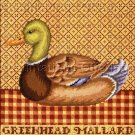 LECLAIR  FOLK ART  DUCK DECOY NEEDLEPOINT KIT GREEN HEADED MALLARD