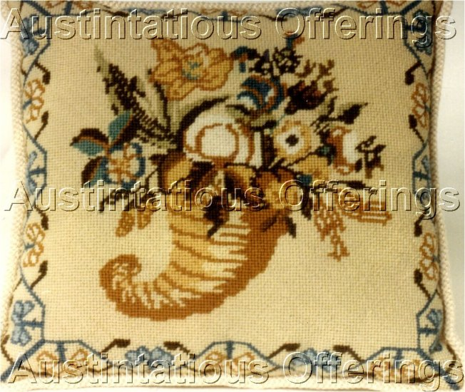 RARE SMITHSONIAN ELIZABETH ORME SAMPLER REPRODUCTION CORNUCOPIA NEEDLEPOINT KIT