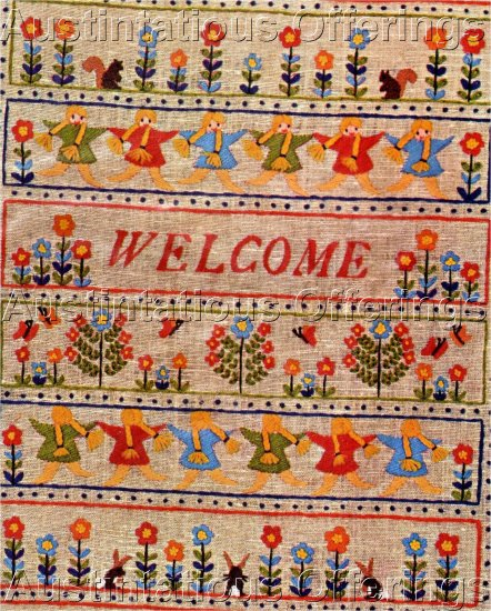 WELCOME CREWEL EMBROIDERY SAMPLER KIT