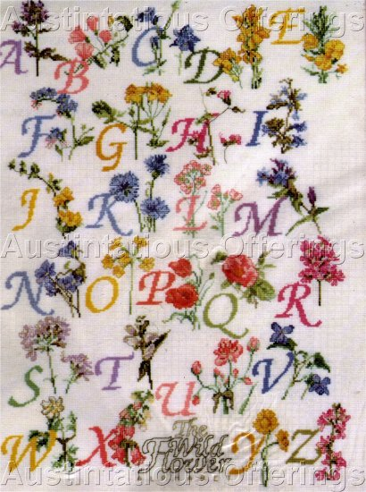 WILDFLOWER ALPHABET SAMPLER CROSS STITCH KIT