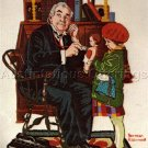 RARE ROCKWELL REPRODUCTION CREWEL EMBROIDERY KIT DOCTOR'S OFFICE SATURDAY EVENING POST
