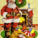 RARE REINARDY HOLIDAY LONGSTITCH NEEDLEPOINT KIT SANTA BY THE FIRE