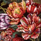 RARE BARBARA BAATZ  STRIPED SPRING  TULIP FLORAL NEEDLEPOINT KIT PARROT TULIPS
