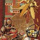 RARE REINARDY AMERICANA FOLK ART TEXTURED WOOL NEEDLEPOINT KIT INDIAN CORN