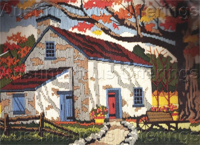 HARD TO FIND KRATZ AUTUMN FARM LONGSTITCH NEEDLEPOINT KIT