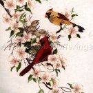 RARE  PICKEN CARDINAL NEST CREWEL EMBROIDERY KIT SPRING DOGWOODS