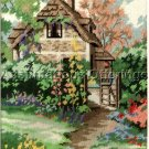 RARE MARTY BELL COTTAGE GARDEN HIDEAWAY NEEDLEPOINT KIT