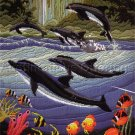 RARE  REINARDY DEEP SEA LONGSTITCH NEEDLEPOINT KIT GRACEFUL DOLPHINS