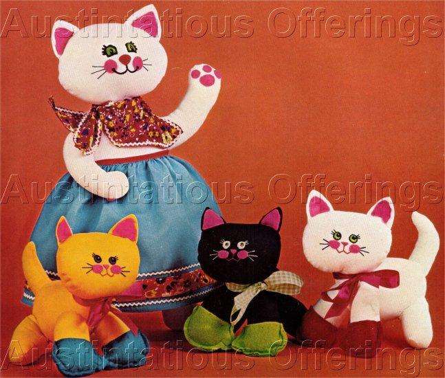 BUCILLA NEEDLECRAFT THREE LITTLE KITTENS & MOTHER