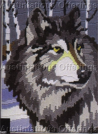 REINARDY SNOWY WINTER WOLF LONGSTITCH NEEDLEPOINT KIT