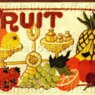 MORRIS FORMAL FRUIT MINIATURE STILL LIFE CREWEL EMBROIDERY FORMAL TABLE
