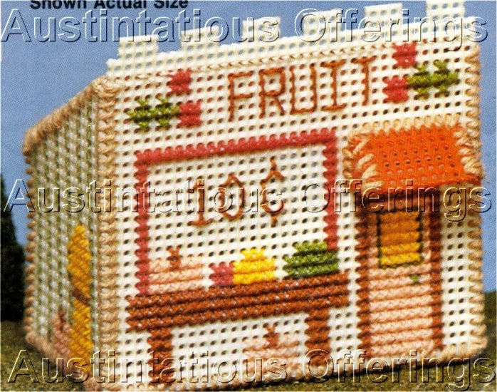 COUNTED CROSS STITCH FRUIT STAND