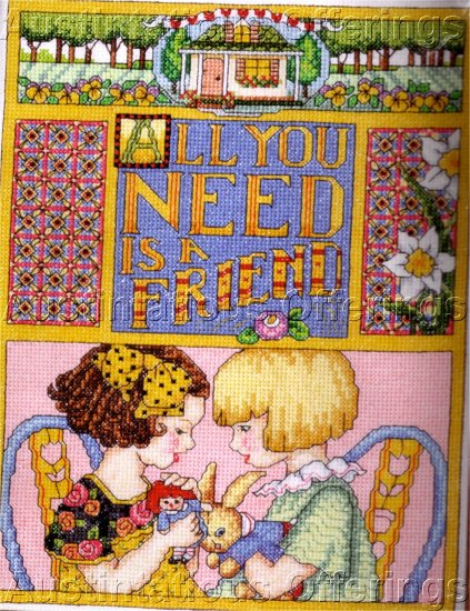 HARD TO FIND FRIENDSHIP SAMPLER ENGELBREIT CROSS STITCH KIT