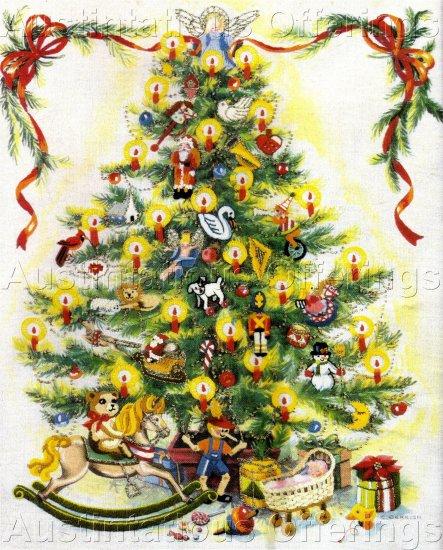 RARE GERRISH HOLIDAY TREE CREWEL EMBROIDERY KIT CHRISTMAS SPLENDOR