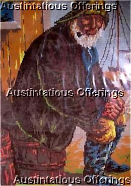 RARE FISHERMAN  NAUTICAL NEEDLEPOINT KIT PENELOPE MESH MARITIME
