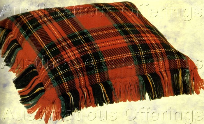SCOTTISH CLAN LUXURIOUS WORSTED WOOLS COUNTED NEEDLEPOINT PILLOW KIT FAMILY TARTAN ROYAL STEWART