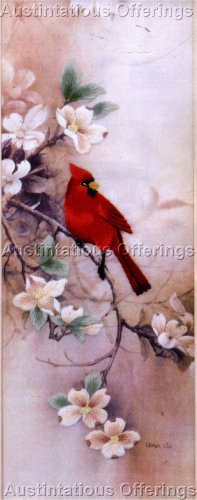 RARE LENA LIU SPRING CARDINAL CREWEL EMBROIDERY KIT ELSA WILLIAMS