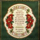 SEASON'S GREETINGS SAMPLER CROSS STITCH CHART NOT KIT