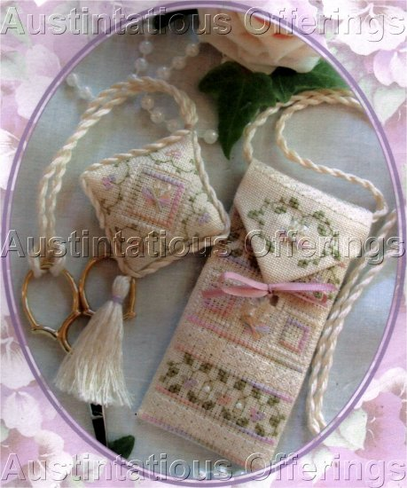 SIMPLY ELEGANT SCISSOR CASE AND FOB CROSS STITCH KIT