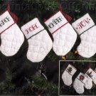 MINIATURE QUILTED STOCKINGS CREWEL EMBROIDERY KIT