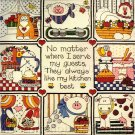Guests Like My Kitchen Best McChesney Floss Crewel Embroidery Kit Tiles