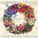 Rare Avery Gold Collection Seasonal Wreath Cross Stitch Kit