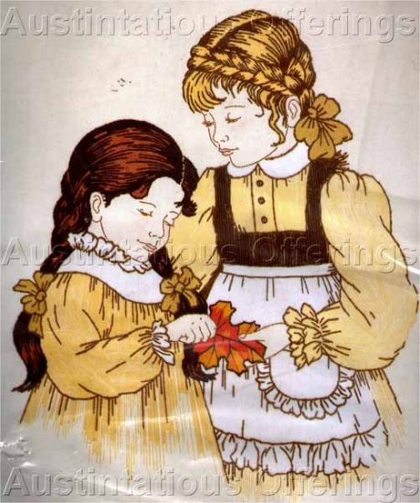 Rare Veres Childhood Friends Crewel Embroidery Kit Girls in Braids