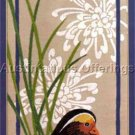 Nancy Rossi Asian Inspired Crewel Embroidery Kit Colorful Mandarin Duck