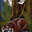 RARE LEEWARDS RACCOON PAIR ANIMAL NEEDLEPOINT KIT FISHING STREAM