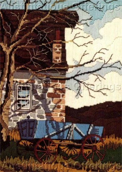 Mildred Sands Kratz Autumn Farm Wagon Longstitch Needlepoint Kit