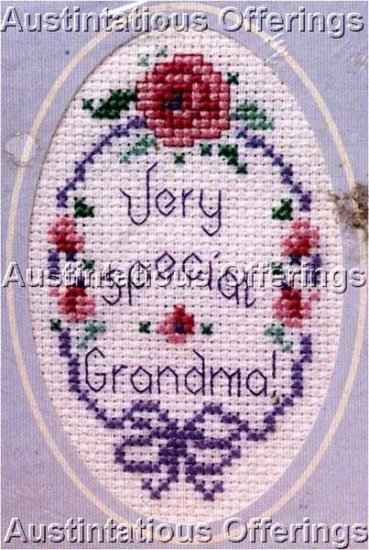 GRANDMA GREETING CARD CROSS STITCH KIT MAILING CARD
