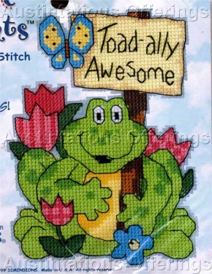 FROG MAGNET CROSS STITCH KIT TOAD