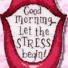 MORNING STRESS CROSS STITCH MAGNET KIT LIPS