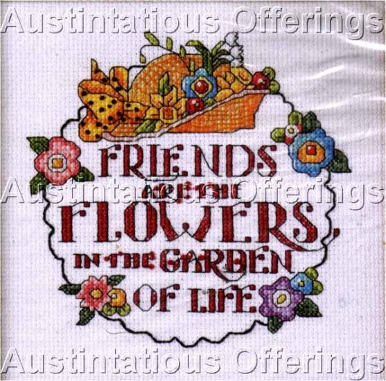 FRIENDS CROSS STITCH KIT MESSAGE FRIENDSHIP SAMPLER