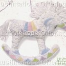 RARE ROSSI PASTEL ROCKING HORSE UNICORN 3D ORNAMENT CREWEL EMBROIDERY KIT