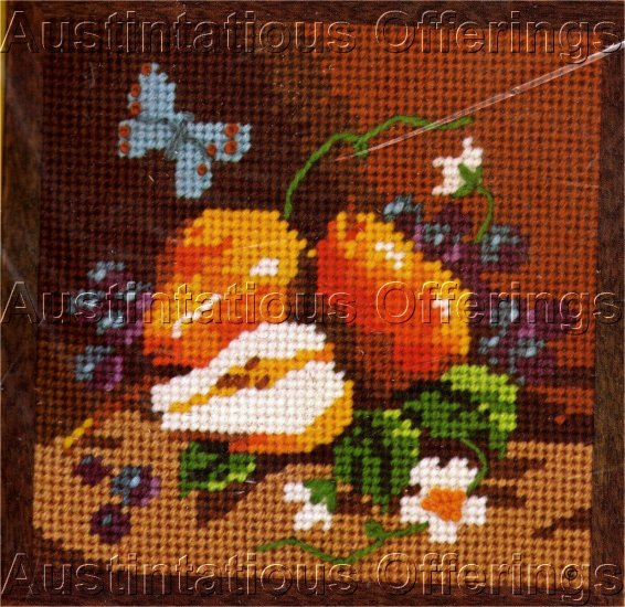 BETH RIENSTRA  BLOSSOMS AND PEARS FRUIT JIFFY NEEDLEPOINT KIT  STILL LIFE