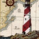 LIGHTHOUSE SEA MAP MARITIME  CROSS STITCH KIT