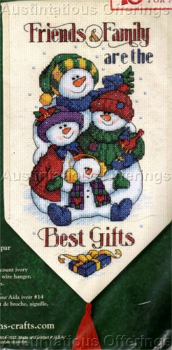 SNOWMAN SAMPLER FRIENDS AND FAMILY CROSS STITCH KIT BEST GIFTS