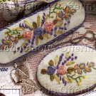 RIBBON EMBROIDERY VICTORIAN SPRAY BARRETTE AND BROOCH SET FLOWER EMBROIDERY KIT