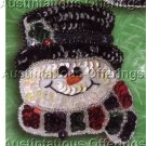 RARE SNOWMAN FACES FROSTY ORNAMENTS PINS SEQUIN FELT EMBROIDERY KIT