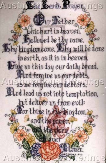 INSPIRATIONAL LORD'S PRAYER EVENWEAVE CROSS STITCH SAMPLER KIT